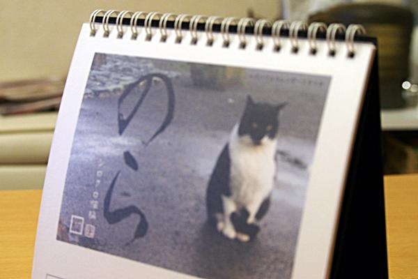 2016年 卓上猫カレンダー 表紙クリア