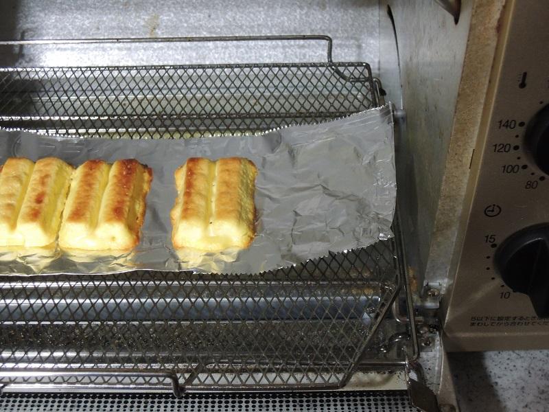 オーブントースターで焼きます