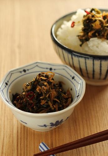 セロリの葉と生姜の佃煮風