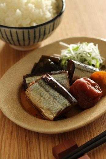 秋刀魚梅煮