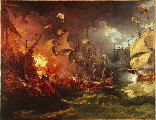 『無敵艦隊の敗北』 フィリップ・ジェイムズ・ド・ラウザーバーグ
