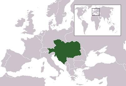 1913年のオーストリア=ハンガリー帝国の領域