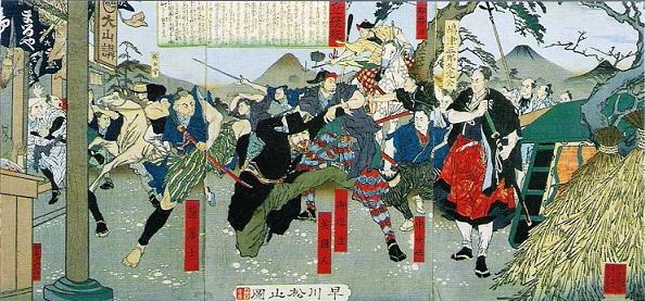 『生麦之発殺』(早川松山画)