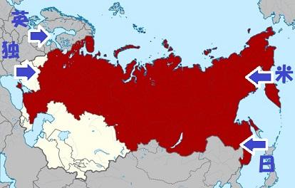 1936年のロシアの領土変更後におけるソビエト連邦の一部としてのロシアSFSR