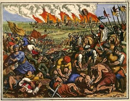 Matthäus Merian『ワールシュタットの戦い』