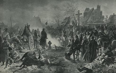 ロイテンの戦いの夜のフリードリヒ大王