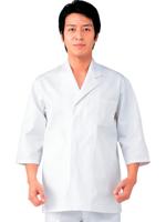 男子七分袖白衣綿 SKG311