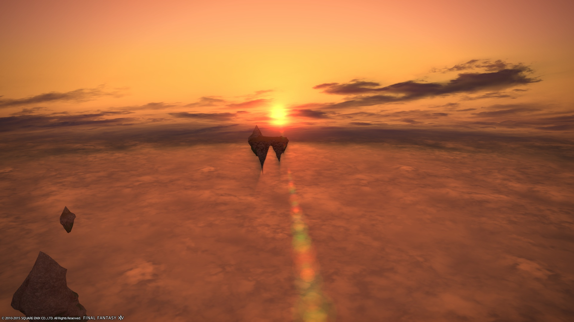雲海と夕焼け