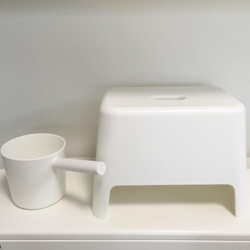 無印良品の、片手桶と風呂いすを買いました☆