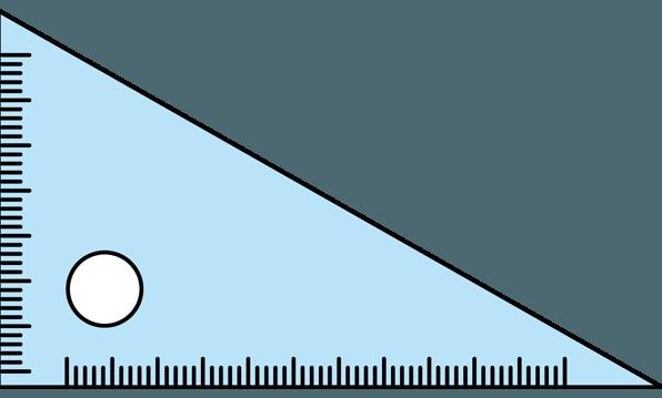 三角定規には何故穴があいている?-摩擦を小さくして滑りやすくするため