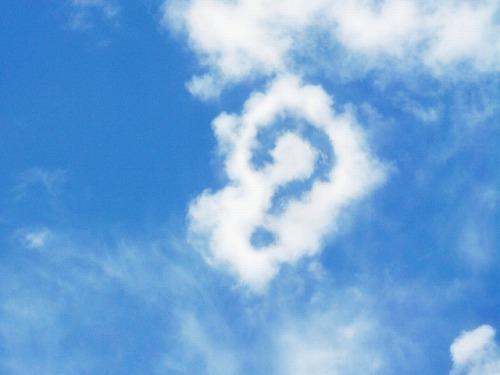 質問 青空 雲
