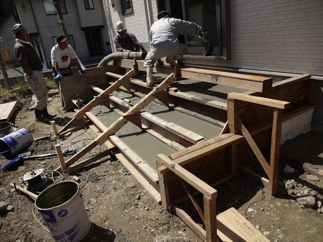 S邸 外構工事 コンクリート打設