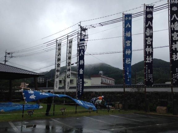 八幡宮神社大祭準備