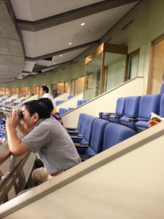 東京ドーム_皇族室ガラス張り