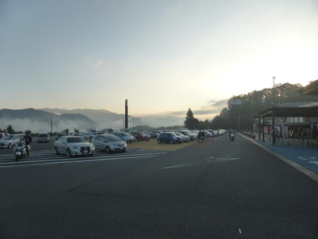 山中湖花の都公園から見た富士山は・・・